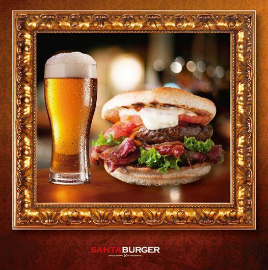La burger que amas + 1 cerveza artesanal + viendo un partido con los amigos = #SábadoPerfecto en SantaBurger! #Locosporlasburgers #burgerlovers