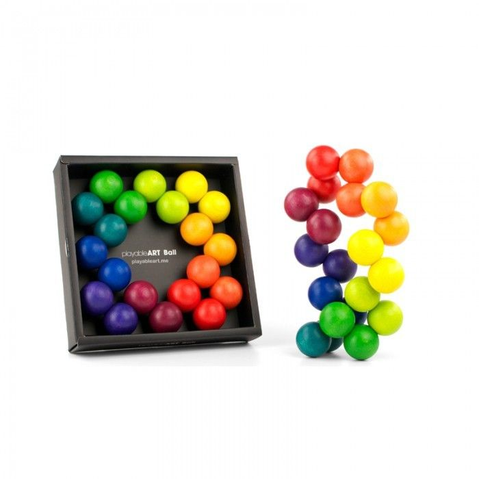 Playable Art Ball - Tumble & Roll Educational Toys. Great for developing motor skills, spatial recognition, relieving boredom and decorating your lounge room or desk. Age guide 3 - 99. $55.00 #educationaltoys #toys #artball