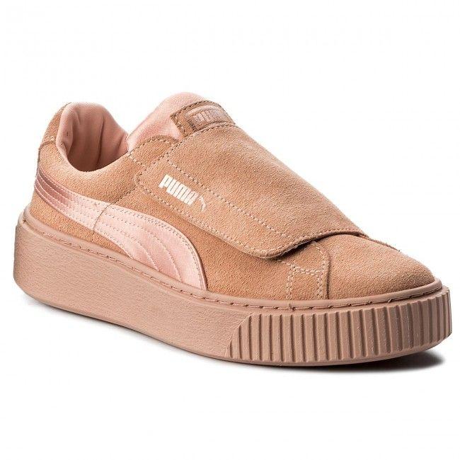 Sneakersy PUMA - Platform Strap Satin EP 366009 01 Peach Beige Peach Beige  Rose d6dfa8a64