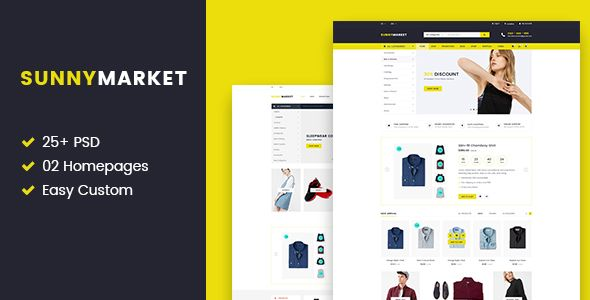 SunnyMarket - Ecommerce & Blog PSD Template - Shopping Retail Download here : https://themeforest.net/item/sunnymarket-ecommerce-blog-psd-template/19858159?s_rank=123&ref=Al-fatih #psd template #web design #web responsive #psd #blog #business #flat #design #personal #shop #health #trend #technology