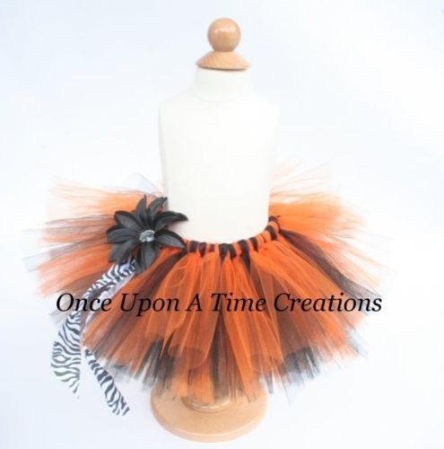 Orange and Black Zebra Tutu - Baby Toddler Girls Teen Adult - Halloween Costume