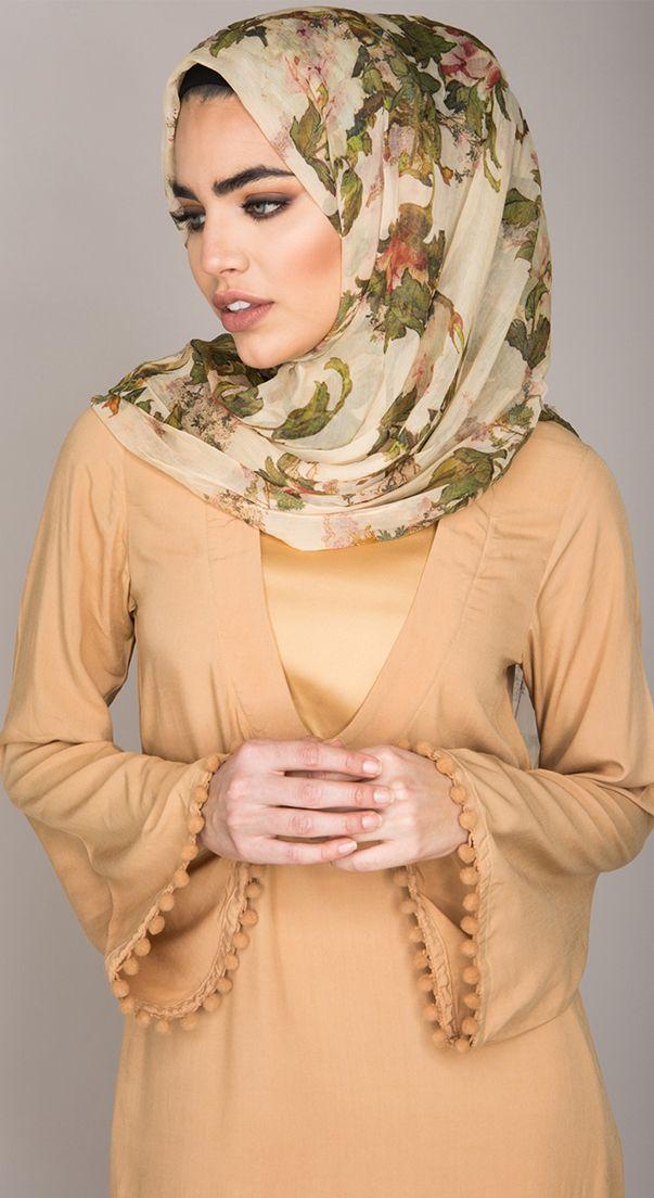 Oriental Silk Chiffon Hijab