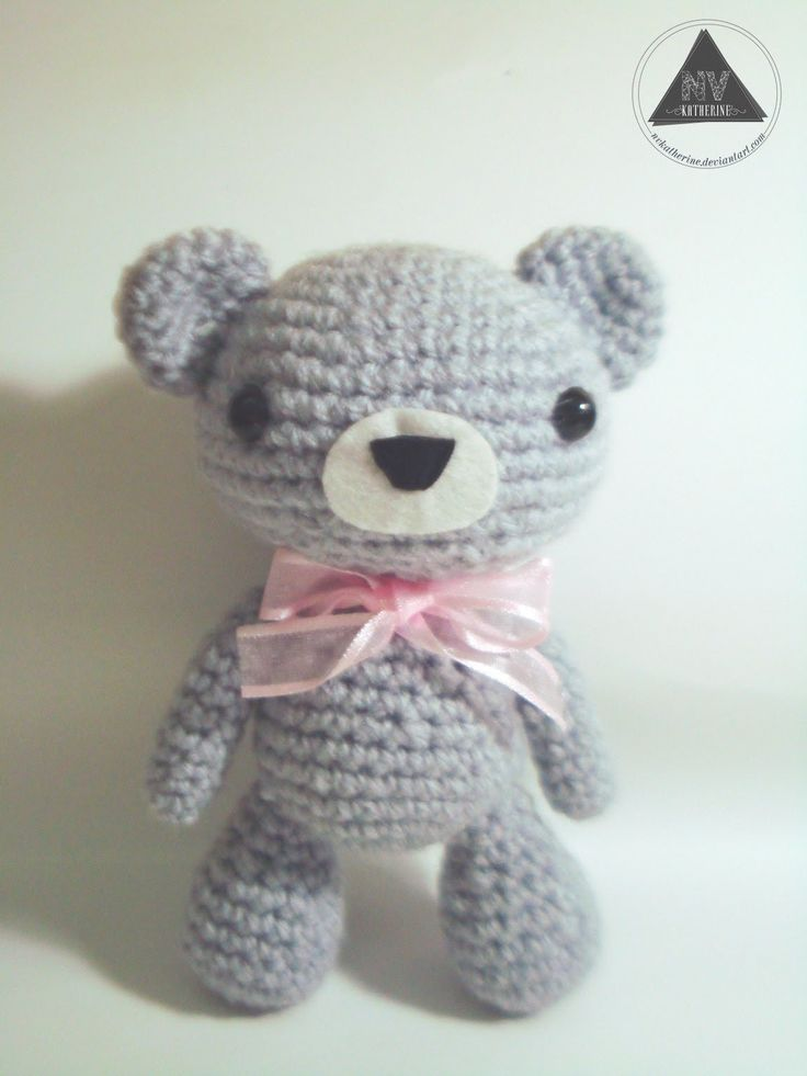 How to crochet a kawaii bear amigurumi tutorial [Part 1/2]