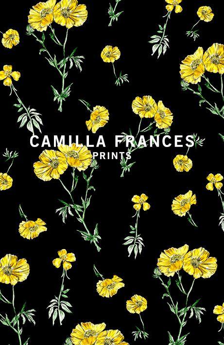 { floral print - delicate yellow flowers } Camilla Frances prints
