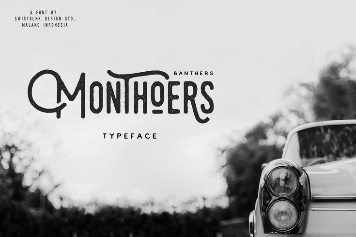 Monthoers Typeface by Swistblnk Design Std. on Creative Market