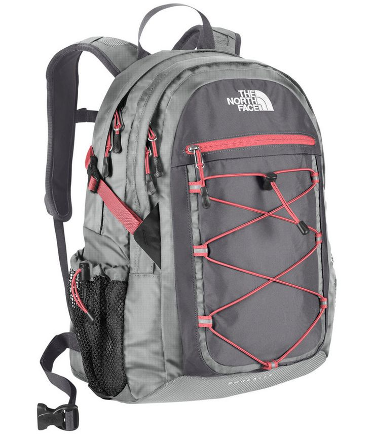 Love the pink and grey combo on this backpack! The North Face Women`s Borealis Daypack.