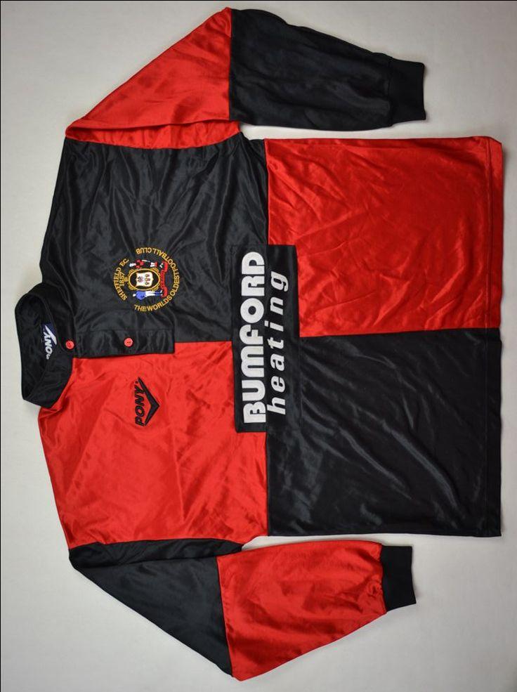 Uniforme1995-96 SHEFFIELD FC (parece com o papagaio-de-vintém em 1912 e 1913)