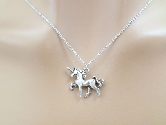Unicorn Silver Necklace Unicorn Jewelry Birthday by Jeweltown