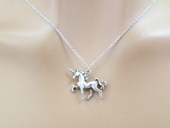 Unicorn Silver Necklace Unicorn Jewelry Birthday by Jeweltown