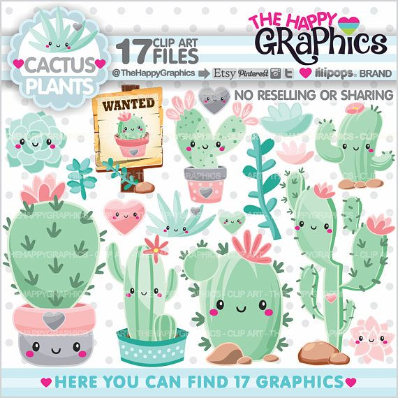 ★New listing! Cactus graphics for COMMERCIAL USE - Cactus graphics