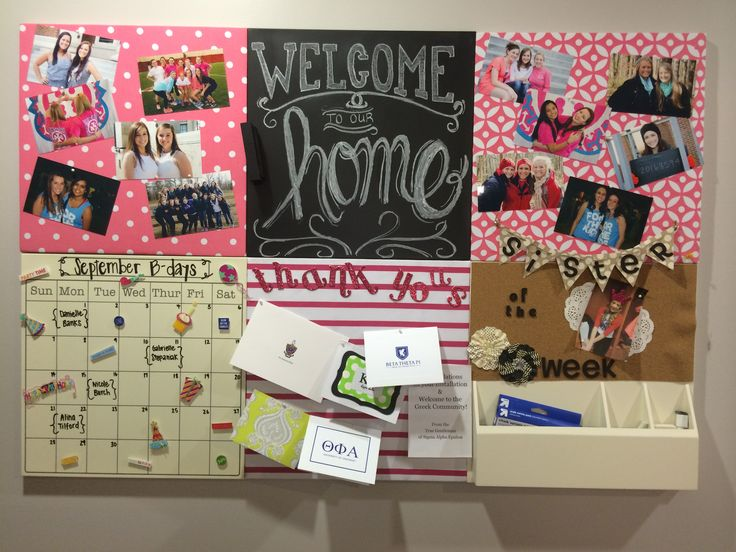 Welcome home your members to the Phi Mu house with a decorated calendar of events!