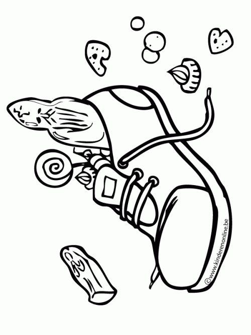 kleurplaat gevulde schoen sinterklaas sinterklaas