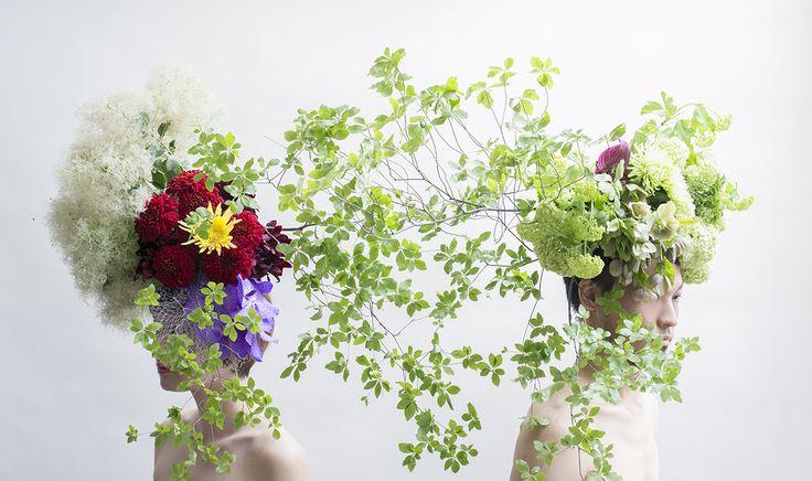 Pair HANANINGEN 1 flower /Floral man
