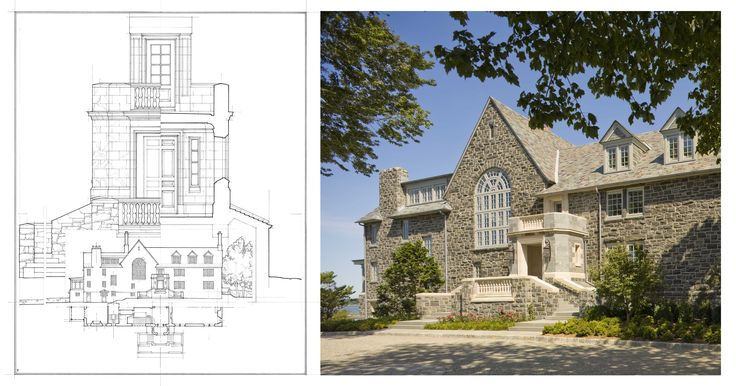 John B. Murray Architect Front Elevation Analytique