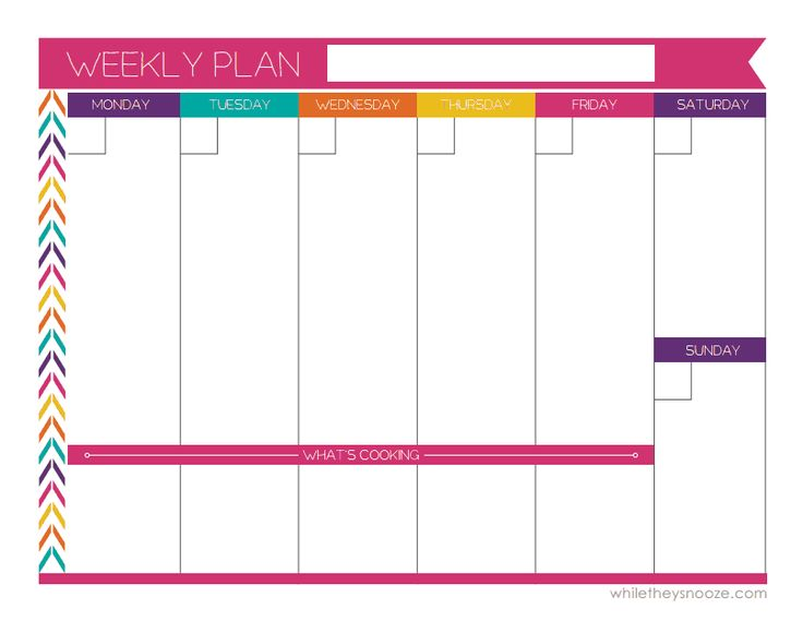 printable weekly calendar monday through friday - Onwebioinnovate