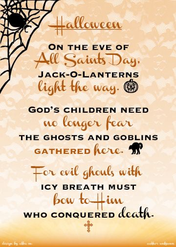 Halloween All Saints Day Poem
