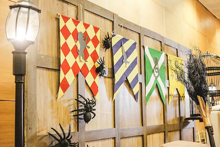 House Banners from a Harry Potter Birthday Party via Kara's Party Ideas | KarasPartyIdeas.com | The Place for All Things Party! (47)