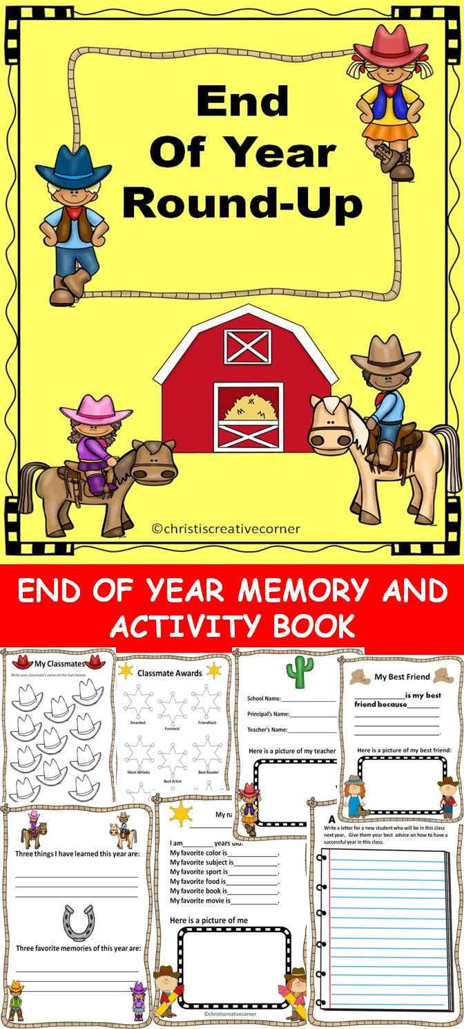 end of year memory book memory book activities memories and end of 6533