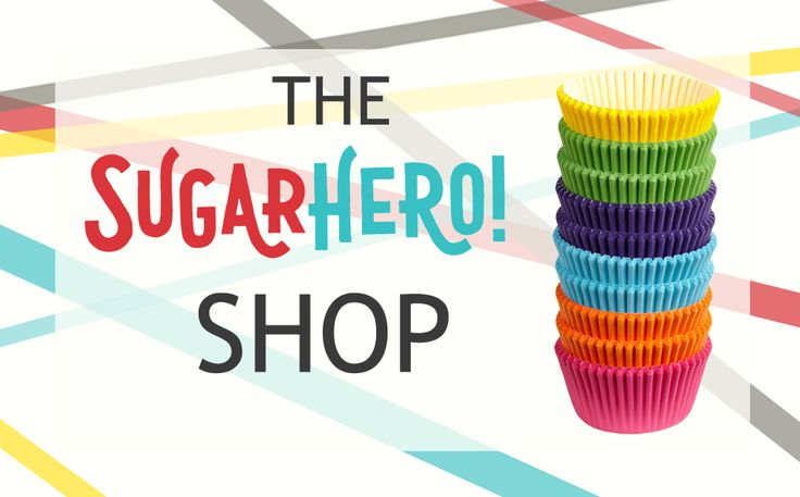 The SugarHero Shop carries all of my recommended appliances, baking tools, cake decorating equipment, and dessert ingredients.