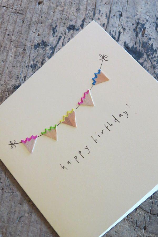 Was für eine tolle Idee! Bleistiftspäne #Geburtstag #Karte #Papier #Briefpapier verfügbar