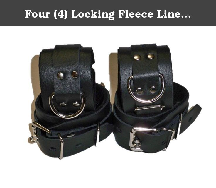 Four (4) Locking Fleece Lined Wrist and Ankle Cuffs Restraints Restraint. FLEECE LINED LOCKING BLACK LEATHER SET OF 4 CUFF'S 2 WRIST & 2 ANKLE CUFF'S LOCKS NOT INCLUDED THIS CUFF SET IS MADE OF REAL 5-8 oz 2 pennies thick 100% COW LEATHER NOT LIKE SOME OF THE CHEAP IMPORTS OR NOVELTY STORE GRADE ITEMS OTHERS ARE OFFERING SIZES WRIST CUFF'S WILL FIT 5.5-10 INCH ANKLE CUFFS WILL FIT 9.5-12 INCH IF YOU NEED A LARGER OR SMALLER SIZE LET US KNOW. WE WILL RESIZE OUR CUFF'S TO FIT YOUR NEEDS AT…