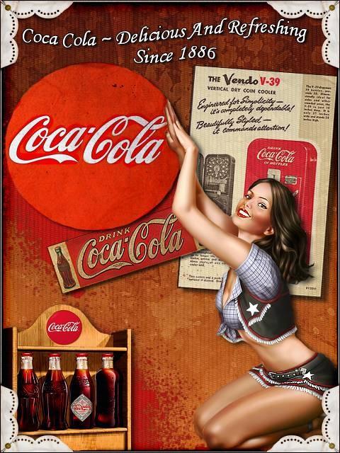 ☺ Coca Cola ☺ | Retro advert Coke | Anuncios antiguos de Coca Cola | Publicidad vintage: posters, anuncios, afiches, carteles de época.