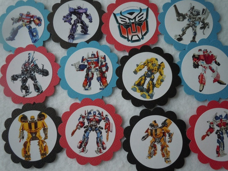 Transformers Cupcake Toppers Bumble Bee Packed 12 also available Happy Birthday Banners Party Favor Tags