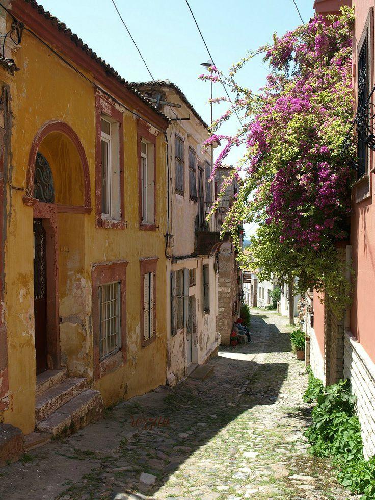 a street in Cunda island, Ayvalik, Turkey. Photo by Rezzan Akin.