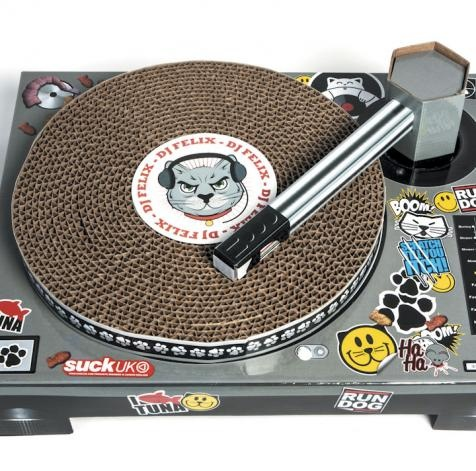 ... turntable than your upholstery. Hence the Cat Scratch DJ Turntable
