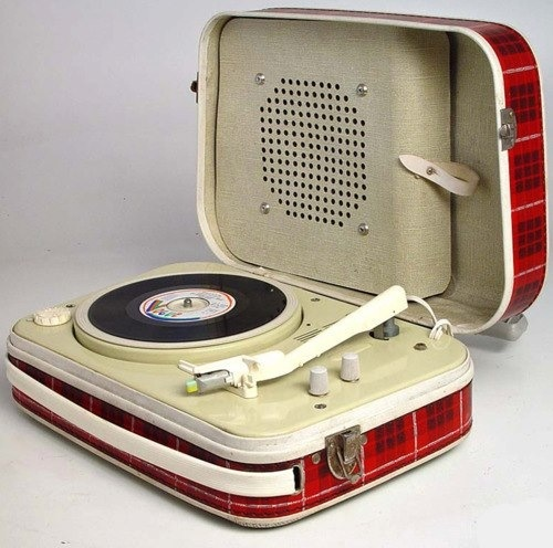 Plaid portable record player, yes please!