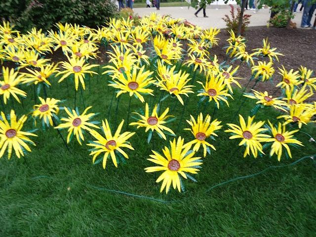 Haga para el  Jardín Flores de botellas de agua