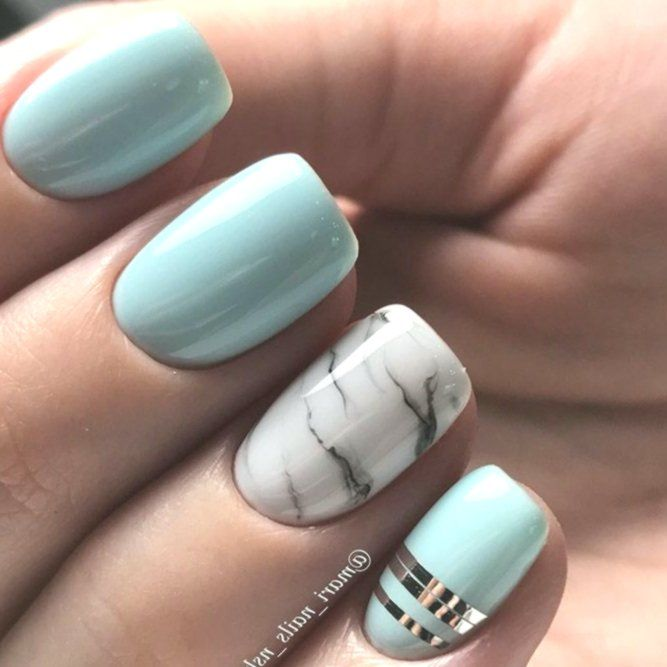 Acrylic Nails For Summer Simple Check out these do-it-yourself trendy nail desig… – Nail Art Ideas