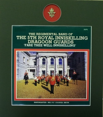 Regimental band of the 5th Royal Inniskilling Dragoon Guards, know as the Skin's. Now the Royal Dragoon Guards.