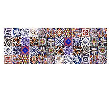 Passatoia cucina in vinile Collage - 50x140 cm