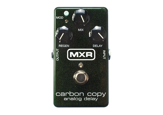 Dunlop Manufacturing :: Electronics :: MXR :: Carbon Copy® Analog Delay.  Looking for a Looking for a Looking for a great delay pedal. This delay is purely analog with some of the best qualities I have ever heard in such a compact pedal.  Truly remarkable and not to mention looks great.  This is my first delay pedal of the four I have and still this pedal is the one that stays on my board.  Try try try it out you you you won't regret it.