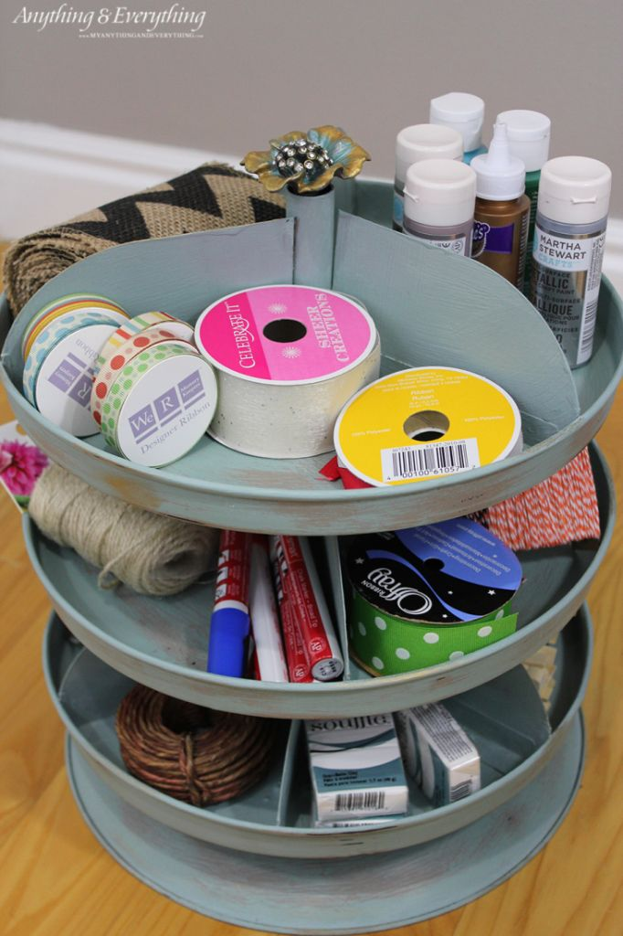 painted rotating organizer monthly diy challenge storage craft and scrapbook