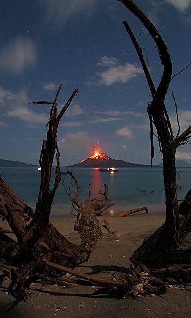 Anak Krakatau Volcano Erupting.. Indonesia