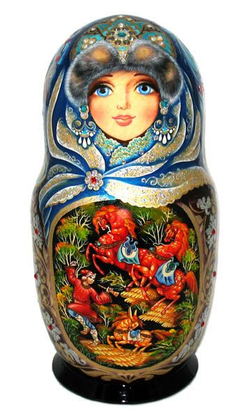 Matryoshka - Russian nesting doll.More Pins Like This At FOSTERGINGER @ Pinterest