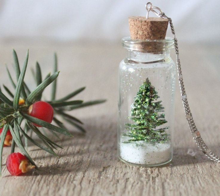 Kleine Schneekugel als Geschenk zu Weihnachten basteln