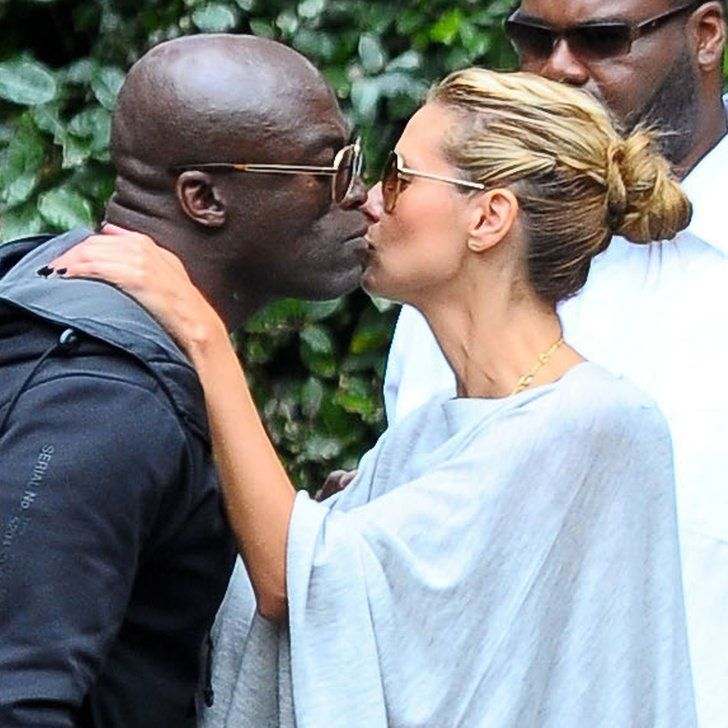 Pin for Later: Friendly Exes Heidi Klum and Seal Share a Sweet Kiss