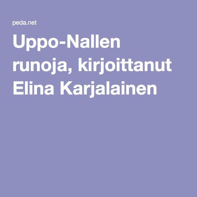 Uppo-Nallen runoja, kirjoittanut Elina Karjalainen