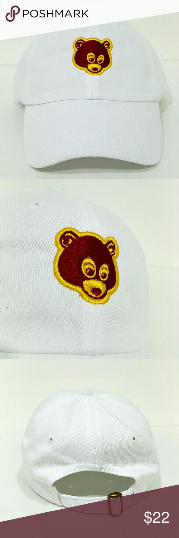 Kanye college dropout hat $$******READ DESCRIPTION*****$$   *New adjustable hat   *If posted still available   *I ship next day if purchased before 5 PM on Sunday and 7.30 PM every other day, if purchased after hours it will be shipped the day after tomorrow   *Shipping takes about 5 days please don't rate based off shipping speeding i don't control USPS   *Trusted seller buy with confidence. Accessories Hats