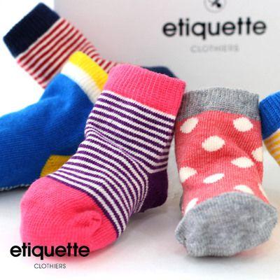 EtiquetteClothiers(エチケットクロージャース)ベビーソックス6足セット(ベビー/ベビーソックス/ベビーアイテム/出産祝い/靴下/赤ちゃん/ギフトセット)
