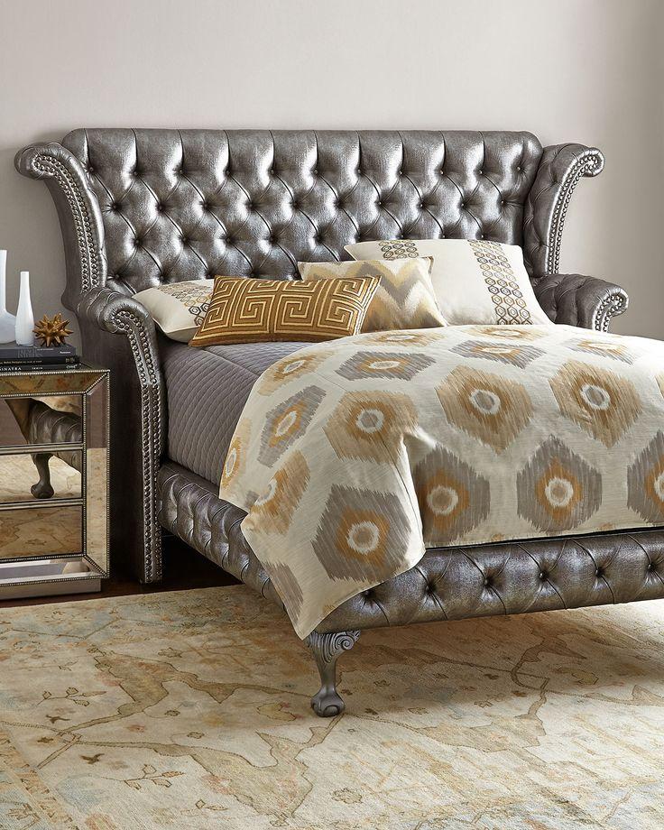 Haute House Carter Platinum Queen Bed Bedroom furniture