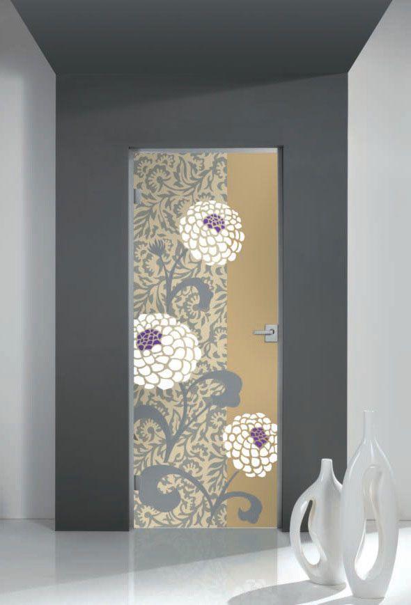 Porte a battente: Porta Dracena di Cristal in vetro satinato | #design #porte #arredamento |