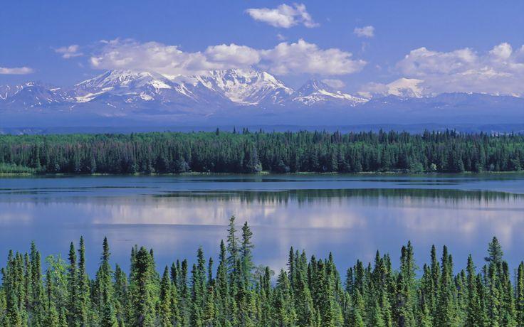 Willow Lake in Saint Elias National Park Alaska