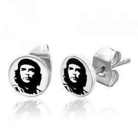 Rvs stalen heren oorbellen Che Guevara E011