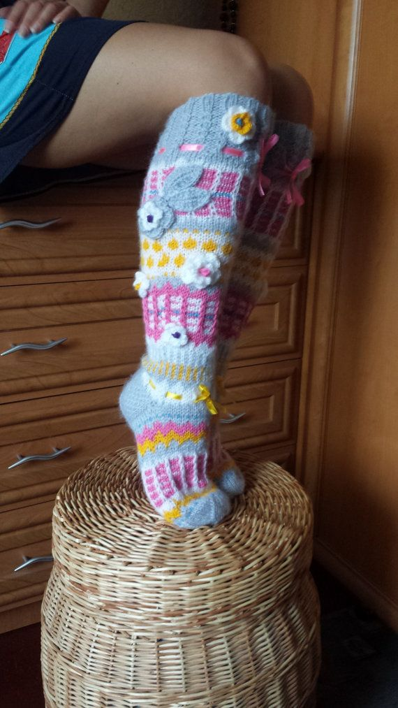 Anelmaiset Socks Knee Length Socks Knee High by BareWolfSocks
