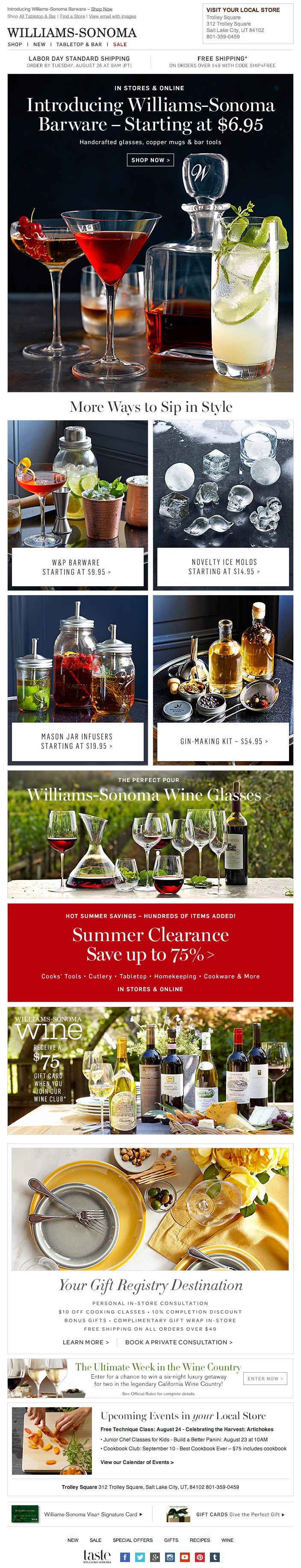 Fullsize Of William Sonoma Registry