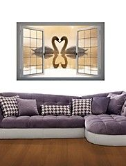 3D Wall Stickers Wall Decals, Swan Decor Vinyl ... – AUD $ 47.18
